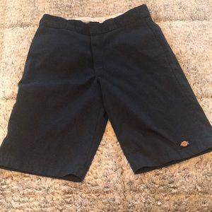 Men's navy Dickies shorts